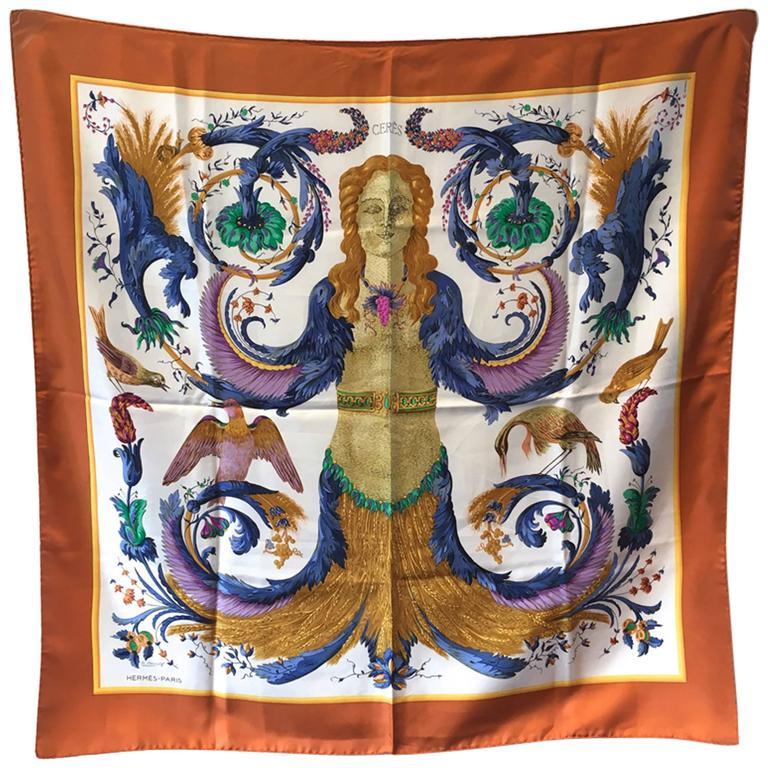 Hermes Vintage Cerés Silk Scarf c1960s For Sale