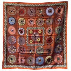 Hermes Beautiful Belles du Mexique Silk Scarf