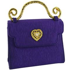 Edouard Rambaud Vintage Purple Evening Bag