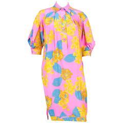 1980s Gianfranco Ferre Multico Silk Dress