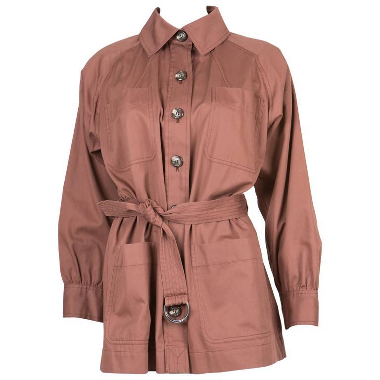 Rare Saint Laurent Cotton Safari Jacket