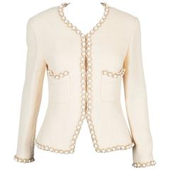 Rare Chanel Ivory Tweed Jacket