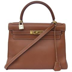 Hermes Kelly 28 Bag Retourne Gold Epsom Leather Gold HDW