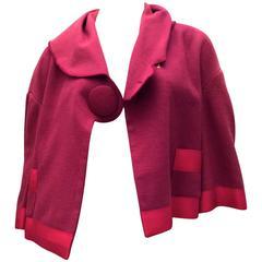 Valentino Short Linen Swing Coat