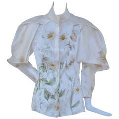 Alexander McQueen Spring 2009  Runway Silk Shirt NEW  40