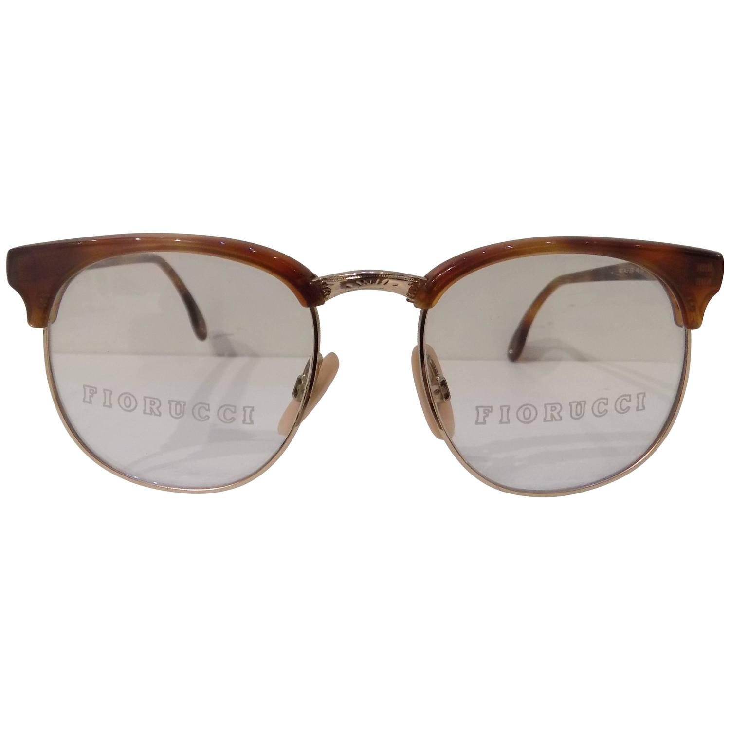 1990s Fiorucci brown tone frame glasses For Sale at 1stdibs