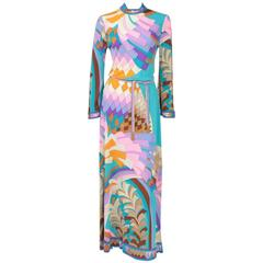 Leonard Silk Jersey Printed Maxi Gown