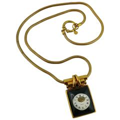 Jean Paul Gaultier Vintage Rare Collectable Steampunk Watch Pendant Necklace