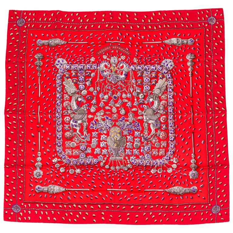 Hermès Tresors Retrouves Scarf For Sale