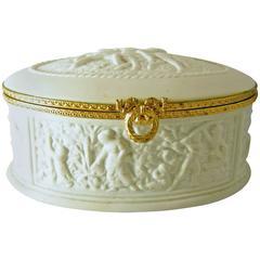 Vintage White Limoges Hinged Box