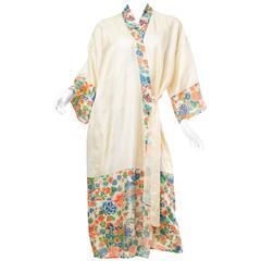 1920s Silk Dressing Kimono