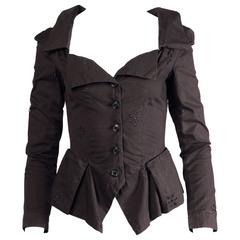 Unworn Vivienne Westwood Anglomania Black Eyelet Jacket with Original Tags