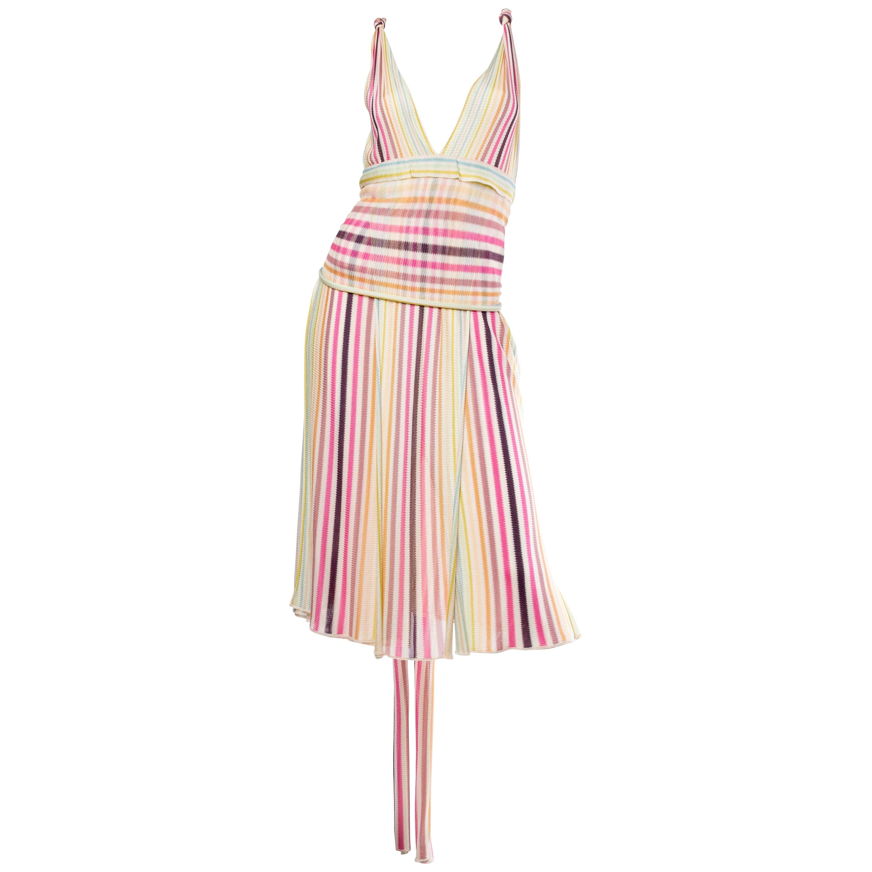 4ce6440f08ec Slinky Missoni Striped Dress at 1stdibs
