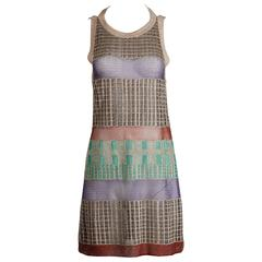 Missoni Metallic Sheer Knit Dress with an Open Back
