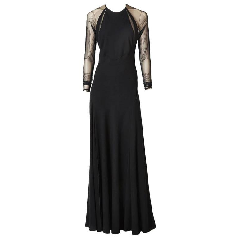 Jackie Rogers Bias Cut Crepe Gown