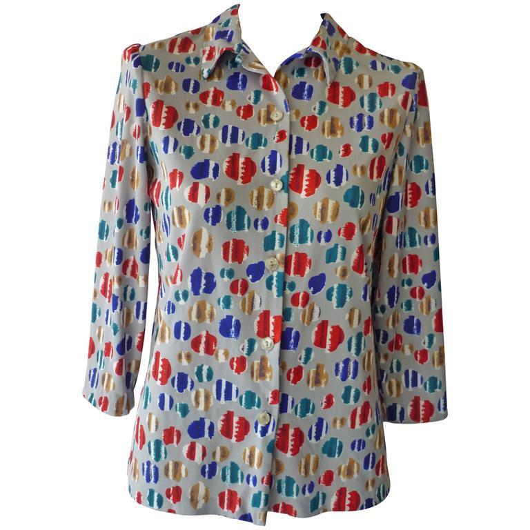 Vera Op Art Shirt, Late 1960s  For Sale