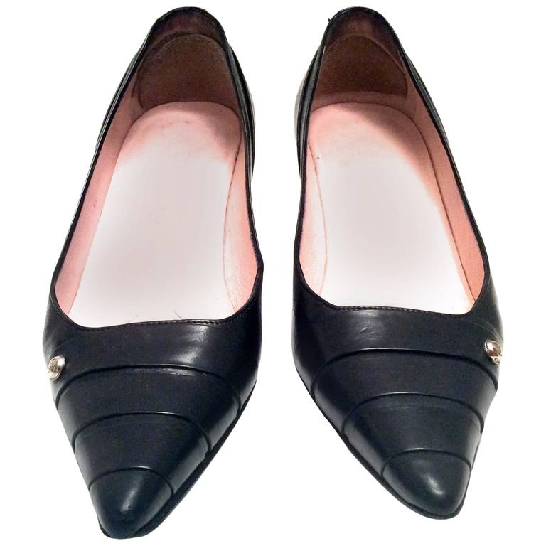 Chanel Black Leather Pumps - Size 38