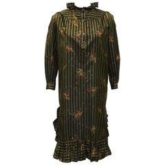 1970's Laura Biagiotti Striped Dress
