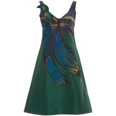 Prada Silk Appliquéd Dress, Spring - Summer 2005