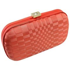 Vintage Corail Bottega Veneta Clutch with Crystal