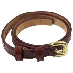 Louis Vuitton signature bordeaux patented Leather Belt