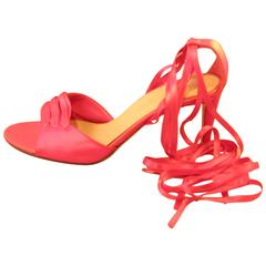Yves Saint Laurent Pink Silk Ballet Inspiration Shoes