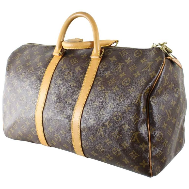louis vuitton keepall speedy 45 at 1stdibs. Black Bedroom Furniture Sets. Home Design Ideas