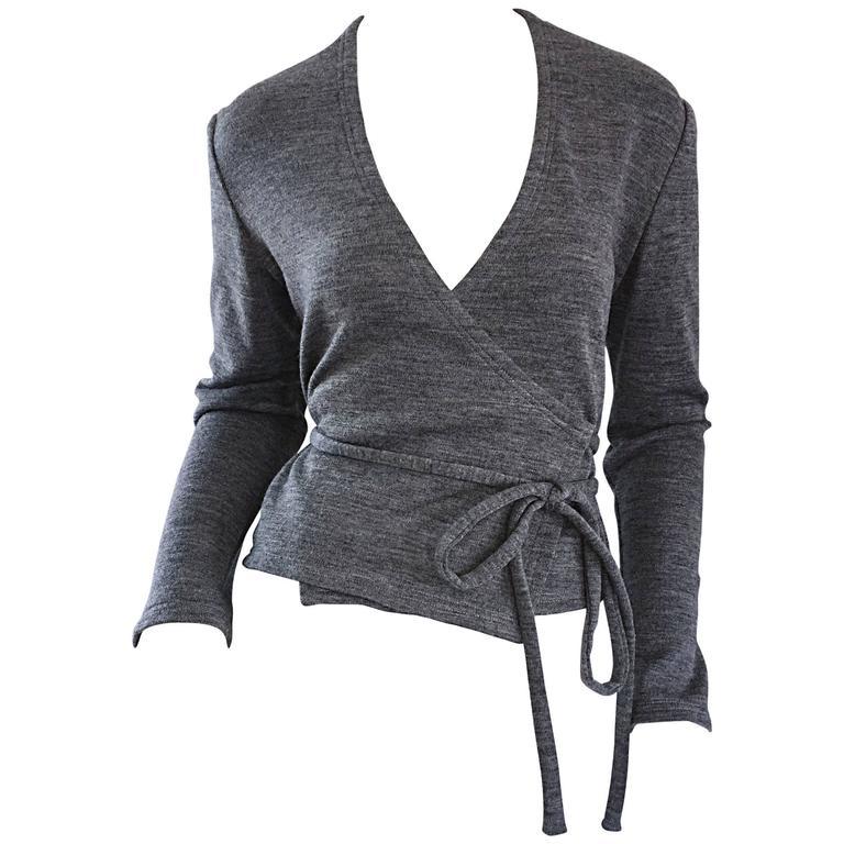 Geoffrey Beene Vintage Dark Heather Grey Size 6 Light Wool ...