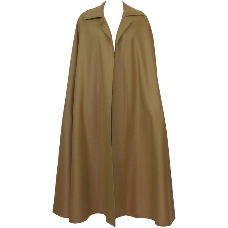 Yves Saint Laurent YSL 1970s Wool Cape