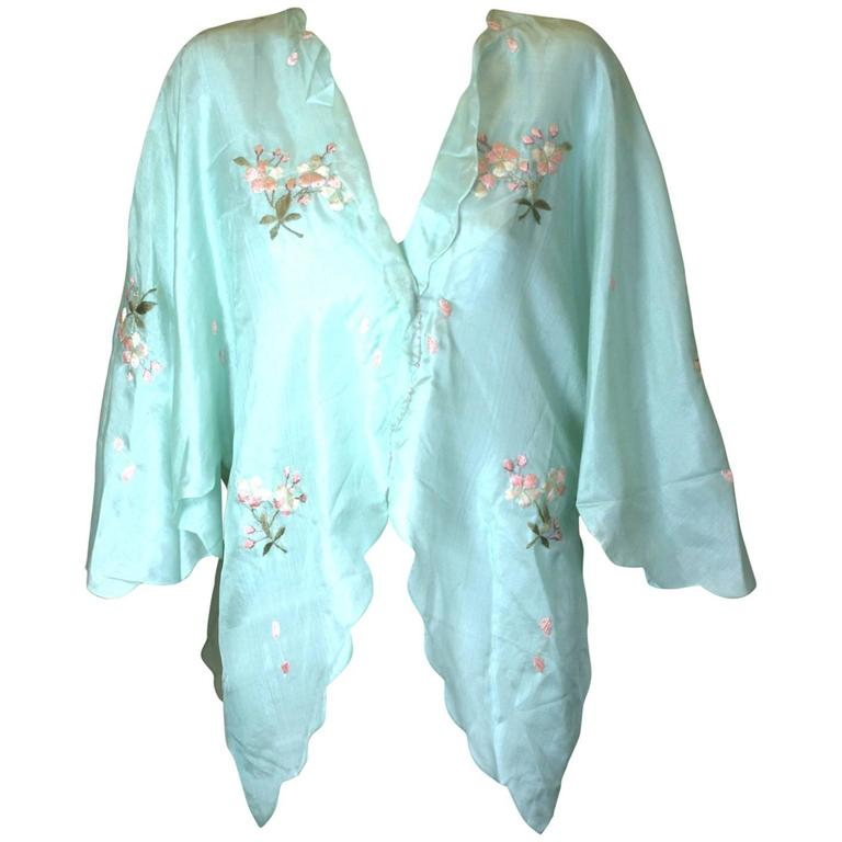 Edwardian China Silk Butterfly Blouse For Sale