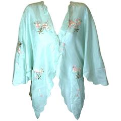 Edwardian China Silk Butterfly Blouse