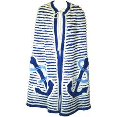 Art Deco Chenille Anchor Cape