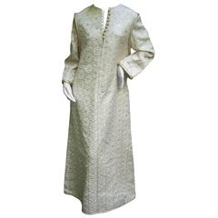 Superb Malcolm Starr Brocaded Caftan. 1960's.