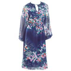 1970 Hanae Mori Chiffon Dress