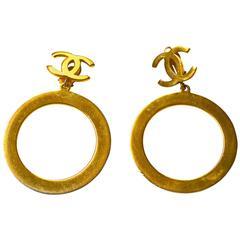 1960s Oversized Chanel Circular Earrings.