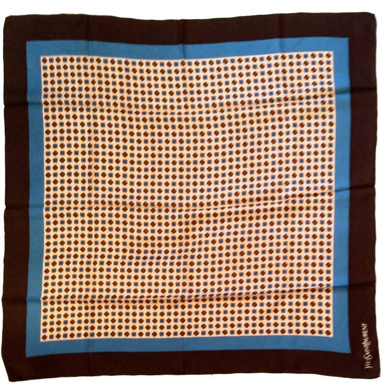 Vintage Yves Saint Laurent / YSL Silk Scarf - Mint Condition - Original Box