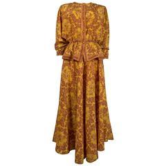 Janice Wainwright silk pantsuit, circa 1970