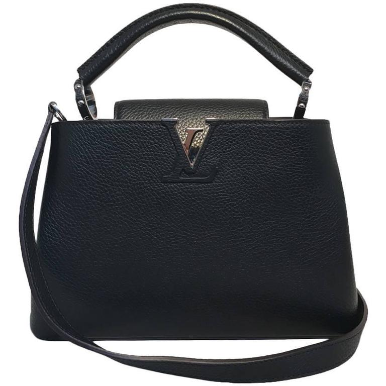6cbf27788 Louis Vuitton Black Capucines BB Handbag at 1stdibs