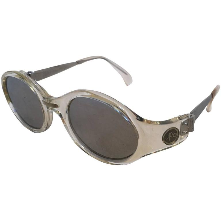 Jean Paul Gaultier Vintage Clear Framed Sunglasses 1