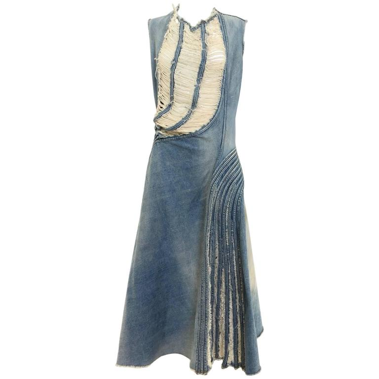 2000s Junya Watanabe denim dress 1