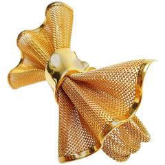 1980s Givenchy Vintage Tuxedo  Bow Mesh Bracelet