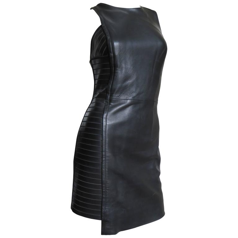 Fabulous Versace Leather  Dress For Sale