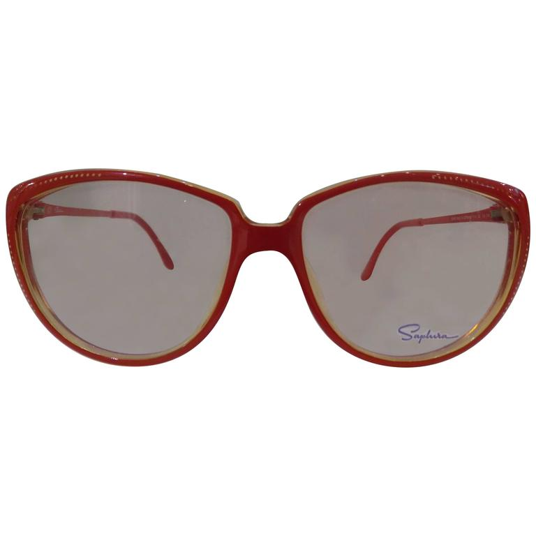 1980s Saphire frame- glasses For Sale