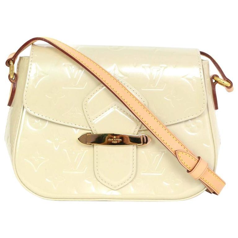 Louis Vuitton Ivory Monogram Vernis Bellflower PM Crossbody Bag For Sale 3ef7188de4d9