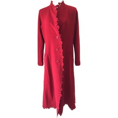 Stunning Red Long Issey Myake Coat M.