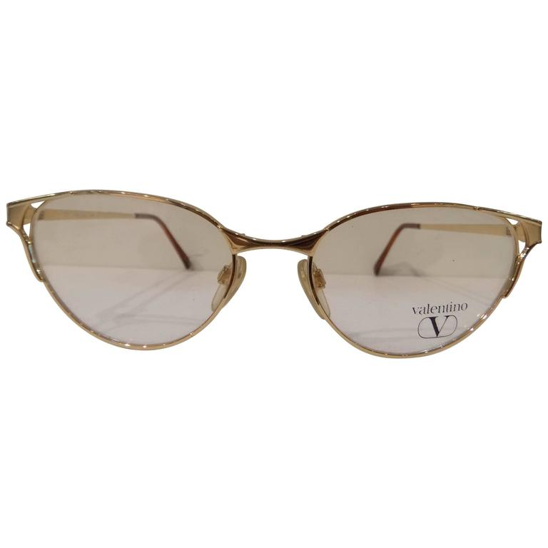 Valentino Glasses Frame : 1980s Valentino Frame - Glasses For Sale at 1stdibs