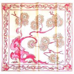 Rare Vintage 1960's Emilio Pucci Scarf - 100% Cotton