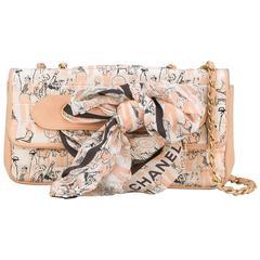 Chanel Vintage Printed Scarf Shoulder Bag