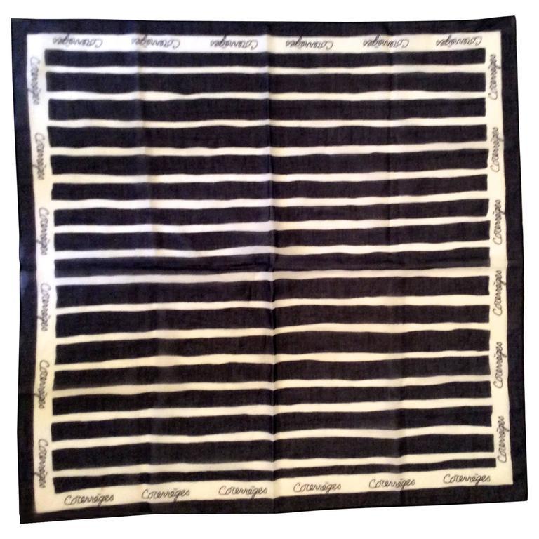 1970's Courreges Cotton Scarf