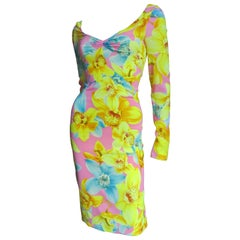 Versace Silk Flowered Dress